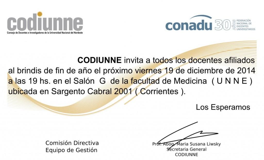 Invitacion CODIUNNE